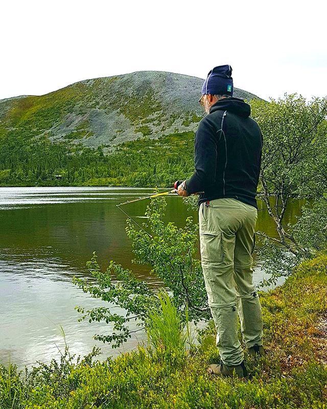 Fiske vid fjällets kant. Foto Hån-Vemdalens fvo