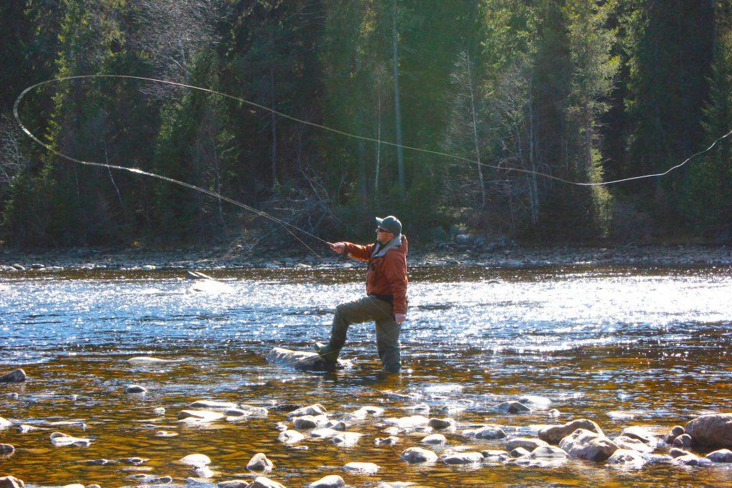 Långå fvo, Per Ola Persson, Långåfiskets River Keeper. Foto Anita Svegare