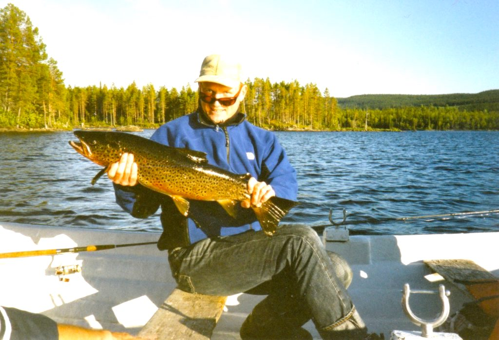 Fiskelycka i Rörvattnet-Skogsjö fvo. Foto Maritha Grelsson