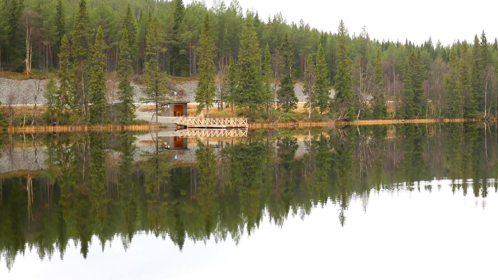 Tillgänglig fiskebrygga hos Storsjö fvo