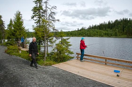 Tillgängligt fiske Valsjöns fvo. Foto Lars Krögerstöm