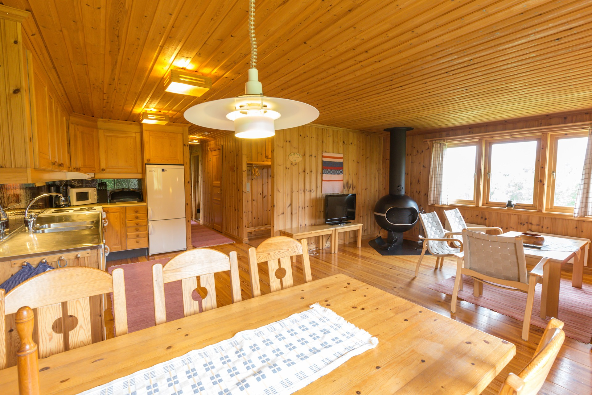 Fjällbyn interior A-hus. Foto Joachim Lagercrantz