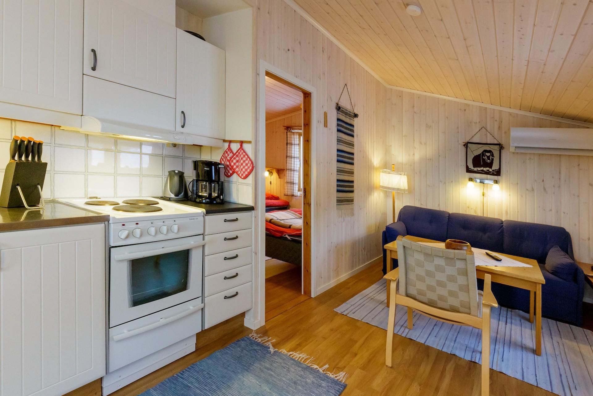 Fjällbyn interior B-hus. Foto Joachim Lagercrantz