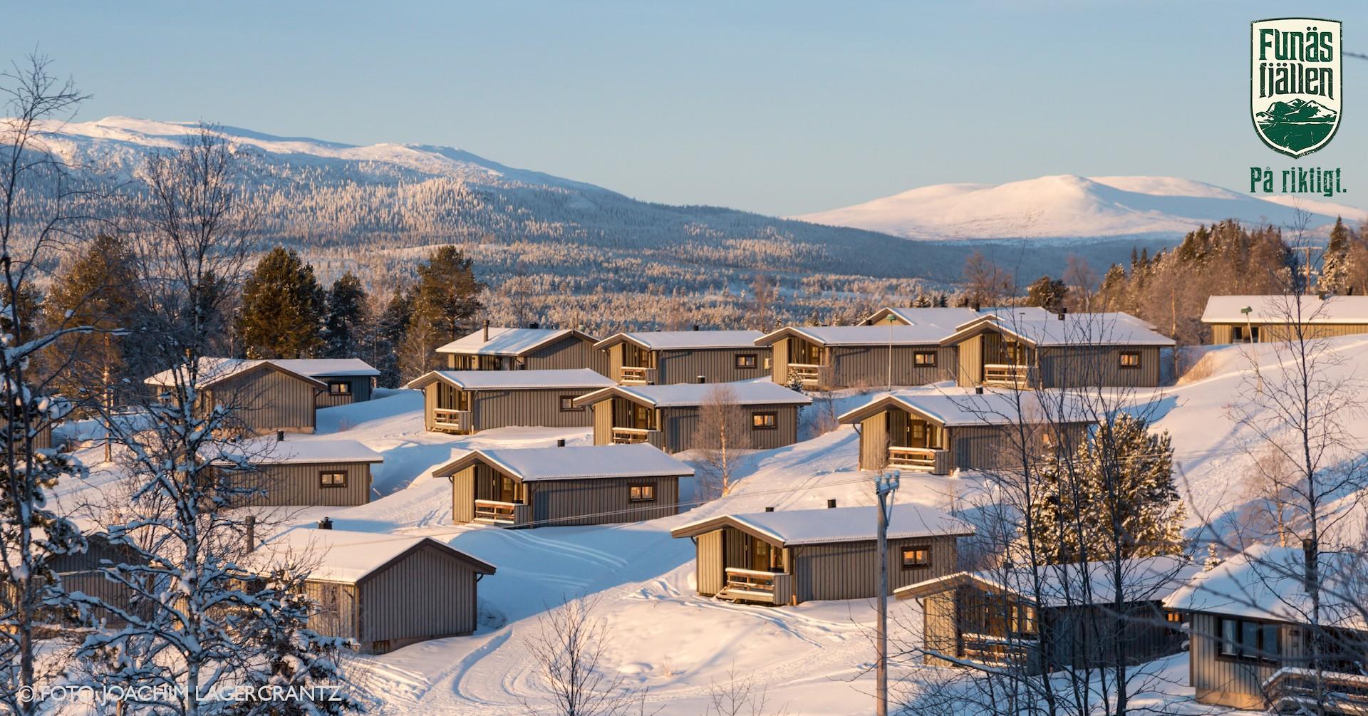 Vinter i Fjällbyn. Foto Joachim Lagercrantz