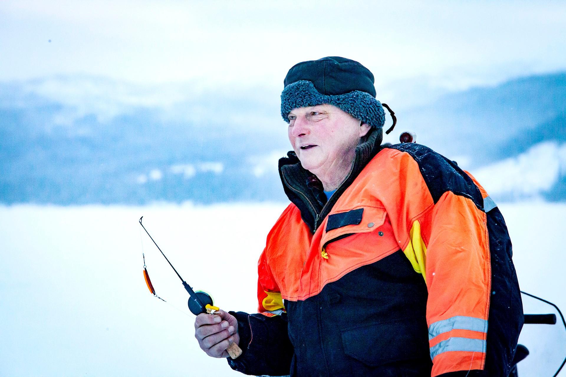 Bengt Blom i Jormvattnet. Foto Anders Lundin